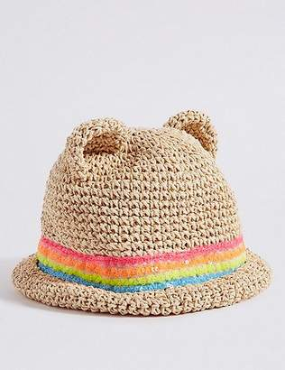 Marks and Spencer Kids' Novelty Straw Sequin Summer Hat (6 Months - 6 Years)