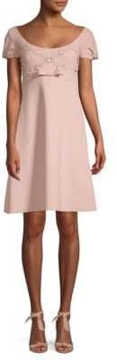 Chiara Boni Floral Bow A-Line Dress