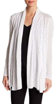 Catherine Malandrino Open Pointelle Knit Cardigan