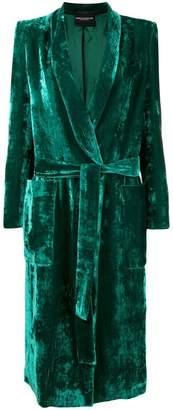 Cavallini Erika belted velvet coat