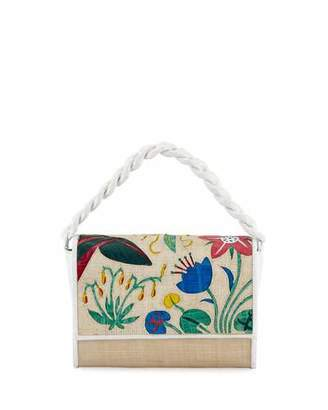 Nancy Gonzalez Carrie Floral Crocodile Clutch Bag