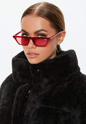 Missguided Quay X Alissa Violet Finesse Red Sunglasses