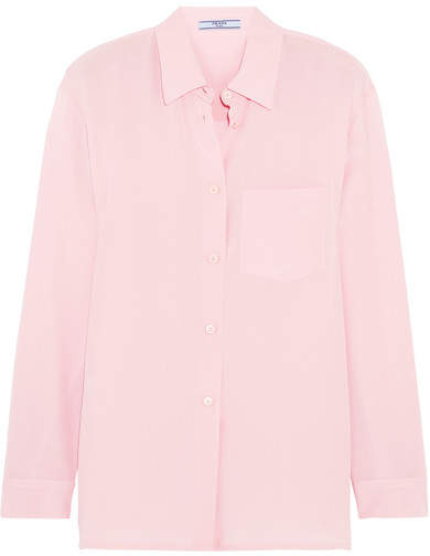 Prada - Silk Crepe De Chine Shirt - Baby pink