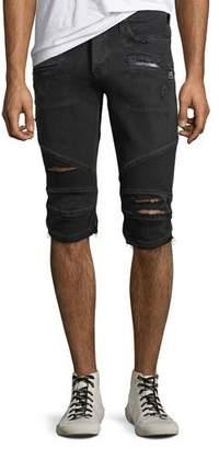 Hudson Men's The Blinder Distressed Biker Denim Shorts