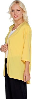 Susan Graver Liquid Knit 3/4 Sleeve Cardigan
