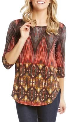 Karen Kane Desert Print Shirttail Tee