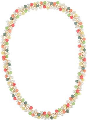 "Kenneth Jay Lane Multicolor Bead-Drop Necklace, 38"""
