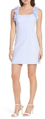 Eliza J Ruffle Strap Sheath Dress