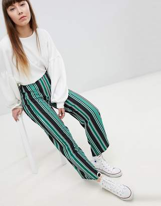 New Look Stripe Wide Leg Trouser