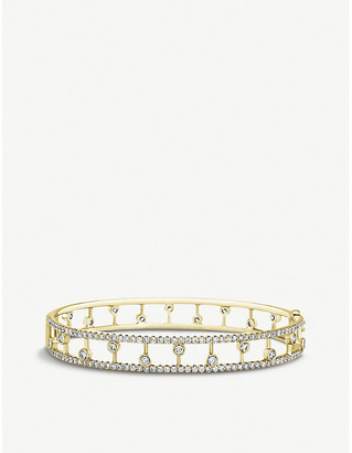 De Beers Dewdrop 18ct yellow-gold and diamond band bracelet