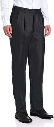 Louis Raphael Men's Luxe Pleated Hidden Extension Dress Pant