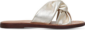 Carvela Kreek twisted leather slides