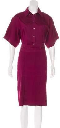 Gucci Collared Midi Dress