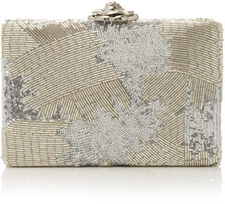 Oscar de la Renta Beaded Satin Clutch