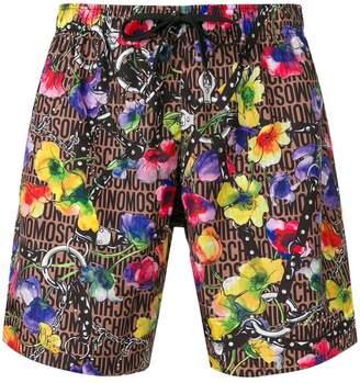 Moschino floral print swim shorts
