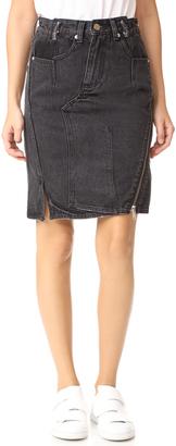 3.1 Phillip Lim Denim Asymmetrical Skirt with Zipper $325 thestylecure.com