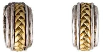Scott Kay Two-Tone Woven Huggie Earrings