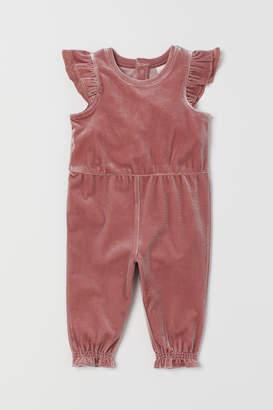H&M Velour romper suit