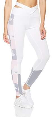 Mint Lilac Women's Cross Waist Printed Leggings Athletic Workout Yoga Pants