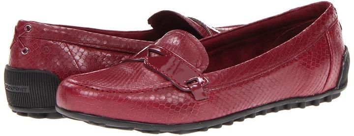 Rockport Jackie Penny Loafer (Tawny Port Snake) - Footwear