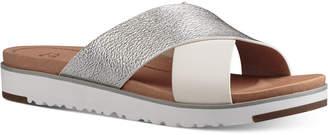 Ugg Kari Slide Flat Sandals $110 thestylecure.com