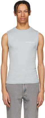 Eckhaus Latta Blue Logo Muscle Tank Top