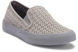 Sperry Seaside Nautical Perforated Leather Slip-On Sneaker