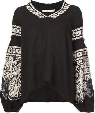Mes Demoiselles embroidered blouse