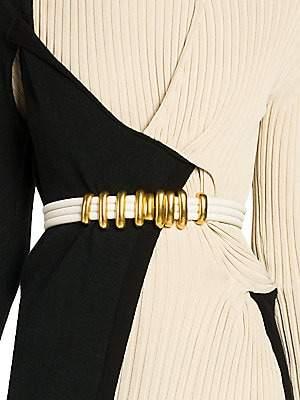 Bottega Veneta Women's Goldtone Buckle Leather Rope Belt