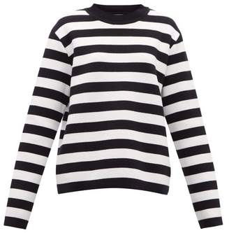 Connolly - Striped Cotton Sweater - Womens - Navy White