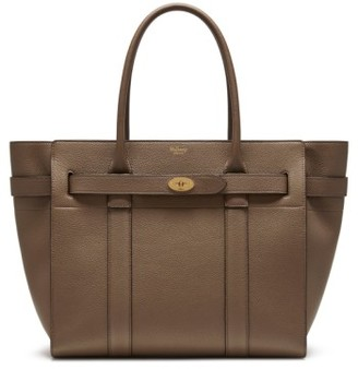 Mulberry Bayswater Zipped Leather Satchel - Grey $1,675 thestylecure.com