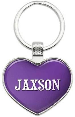 Generic Jaxson - Names Male Metal Heart Keychain Key Chain Ring, Purple