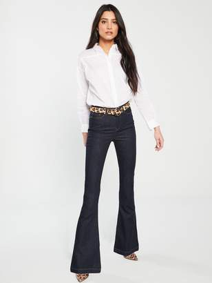 Very High Waisted Flare Jeans - Dark Wash