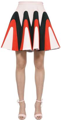 DELPOZO Linen Gabardine Godet Skirt