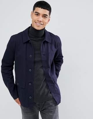 Asos DESIGN worker jacket in navy