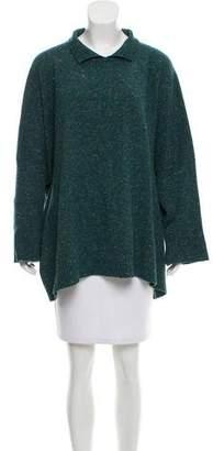 eskandar Merino Wool Donegal Sweater