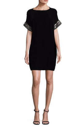Carmen Marc Valvo Short Sleeve Dress