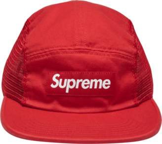 Supreme Mesh Side Panel Camp Cap - 'SS 18' - Red