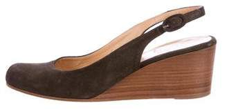 Barneys New York Barney's New York Suede Wedge Pumps