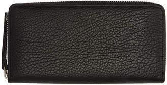 Maison Margiela Black Leather Zip Around Wallet