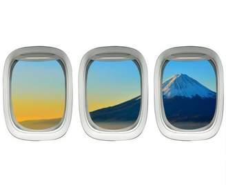 VWAQ Plane Window Clings - Mt Fuji Wall Art Airplane Wall Stickers Aviation Decal VWAQ-PPW21