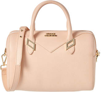 Versace Boxed Top Handle Leather Shoulder Bag