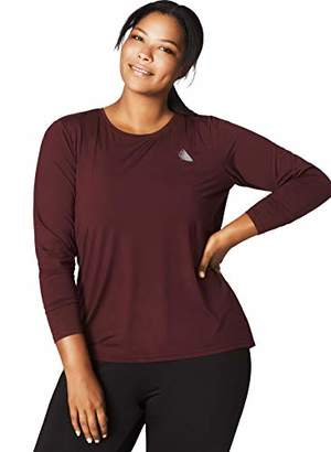 Grosse Zizzi ABASIC Damen T-Shirt für Sport & Freizeit Langarm Sporttop Quick Dry Yoga Fitness, Große Größen 42-56