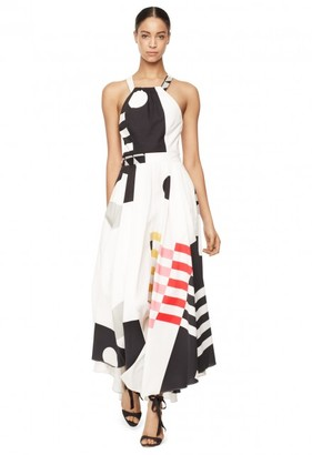 Exclusive Nautical Abstract Print Daphne Dress $795 thestylecure.com