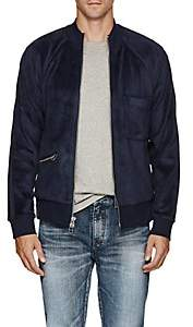 ATM Anthony Thomas Melillo MEN'S VELOUR BOMBER JACKET - BLUE SIZE L