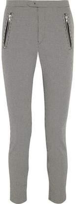 Etoile Isabel Marant Rhett Houndstooth Cotton-Blend Skinny Pants