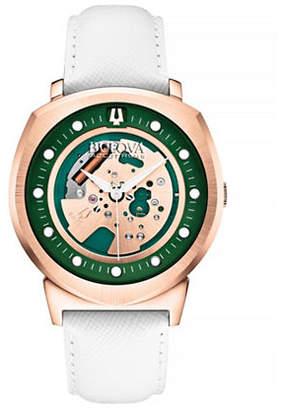 Bulova Accutron II Skeleton Dial Leather Watch