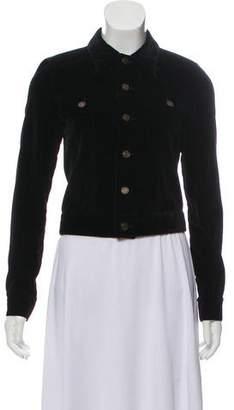Saint Laurent Embellished Velvet Jacket w/ Tags