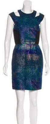 Proenza Schouler Metallic Brocade Dress