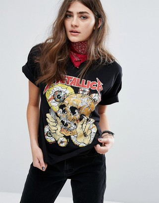 Pull&Bear Metallica Band Tee $28 thestylecure.com
